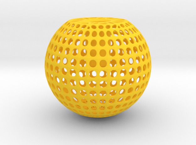 Knob Round Wire in Yellow Processed Versatile Plastic
