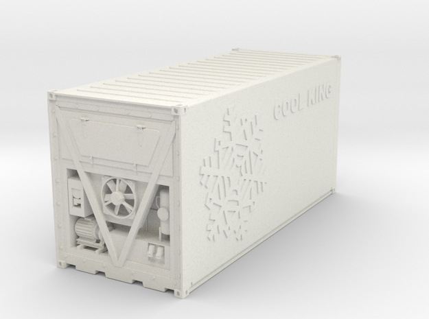 Cooling Container 20ft  in White Natural Versatile Plastic: 1:75