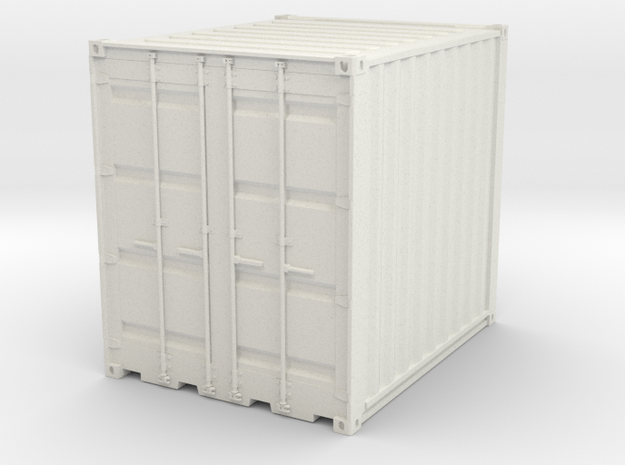 Container 10ft  in White Natural Versatile Plastic: 1:75