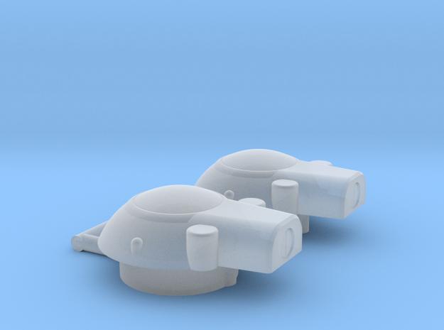 Dual Turbo Bridge w dock 2-pack in Smooth Fine Detail Plastic