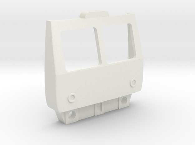 O Gauge Class 105 Cab in White Natural Versatile Plastic