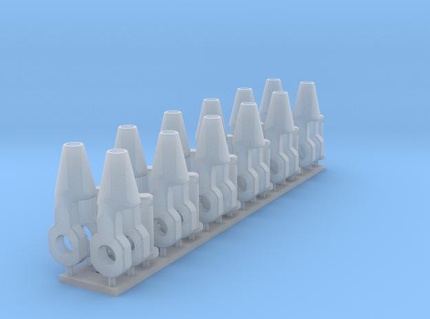 Spelter Socket 2mm 12x in Smooth Fine Detail Plastic