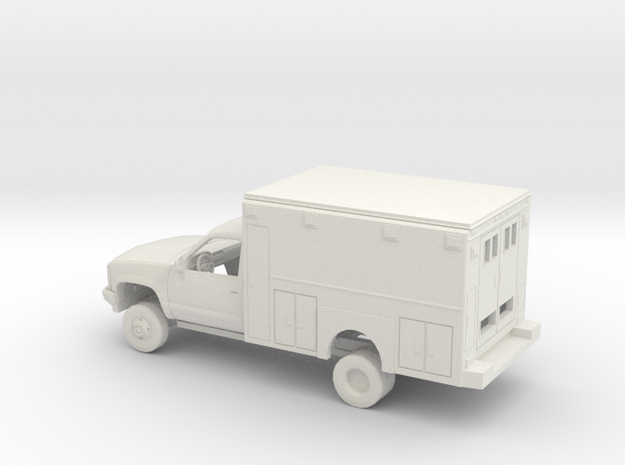 1/43 1990-98 Chevrolet Cheyenne Reg Cab Ambulance in White Natural Versatile Plastic