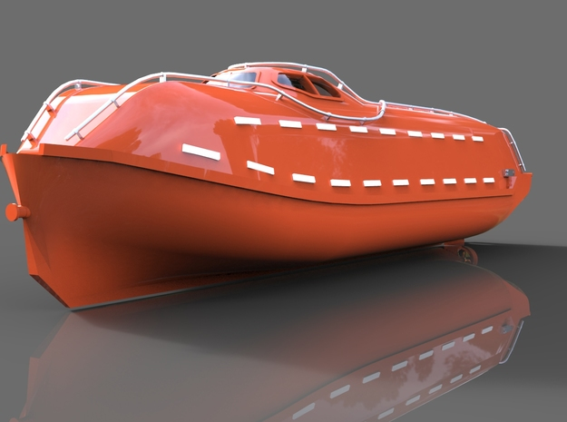 Lifeboat Norsafe in Smooth Fine Detail Plastic: 1:75