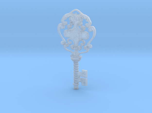 Bloodborne Research Hall Balcony Key in Smooth Fine Detail Plastic