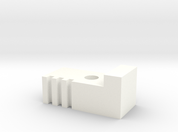 BottomrodblocksLeft in White Strong & Flexible Polished