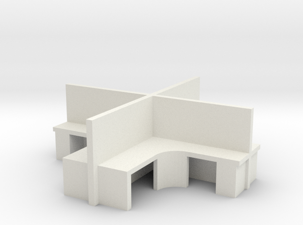 2x2 Office Cubicle 1/48 in White Natural Versatile Plastic