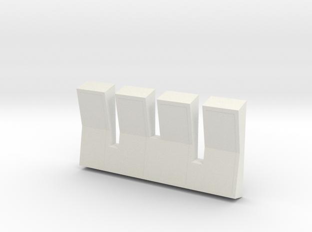 Mainbuttons in White Natural Versatile Plastic