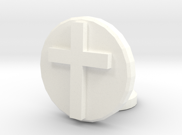 Latin Cross in White Processed Versatile Plastic