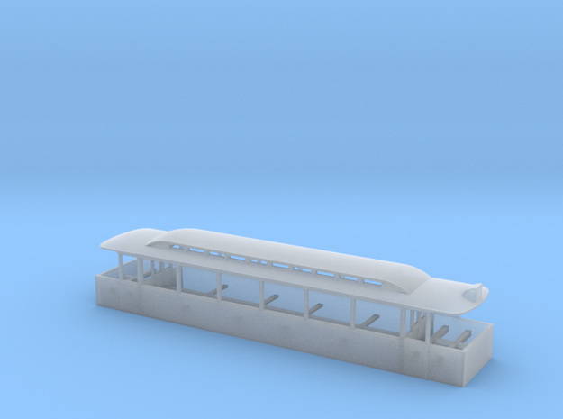 Blackpool Tram 734 body - N in Smooth Fine Detail Plastic