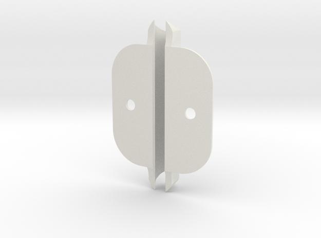 pg532B D1 TD12.7 wing tab v201 in White Natural Versatile Plastic