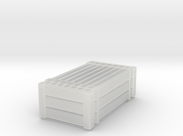 N Gauge H type container with lid in Smooth Fine Detail Plastic