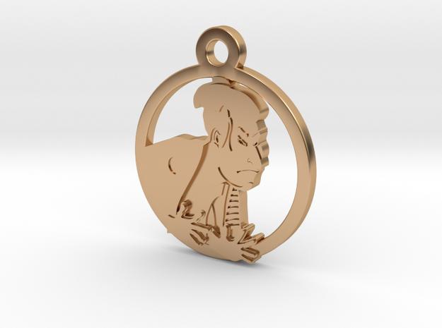 Japanese Ukiyoe Charm Necklace n94 in Polished Bronze