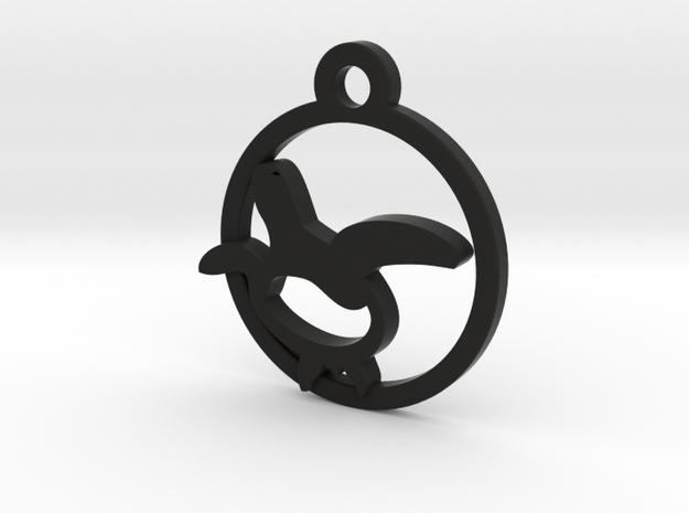 Turtle Charm Necklace n50 in Black Natural Versatile Plastic