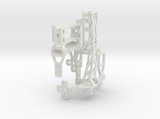 Hexapoddy-shapeways 17 Onepaw in White Strong & Flexible