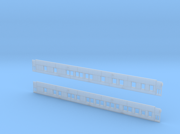6-1-4 Pullman (Plan 4092) - Car Sides in Smooth Fine Detail Plastic