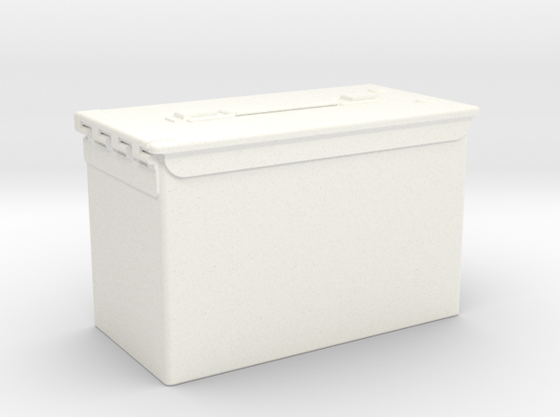 FA30005 1/10 scale Ammo Box in White Strong & Flexible Polished