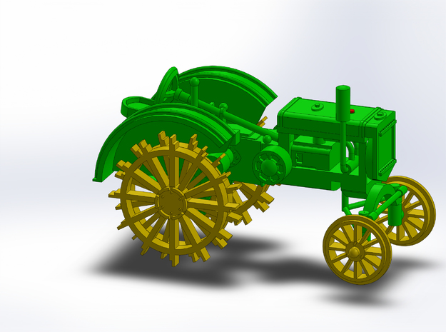 1928 FARM TRACTOR in Smooth Fine Detail Plastic