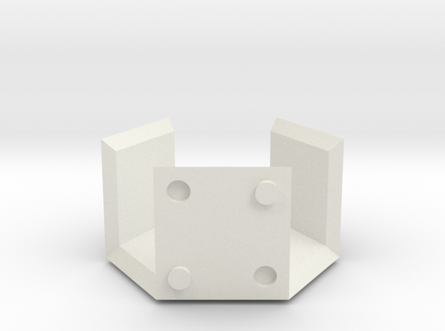 Half Hexbox (stackable) in White Strong & Flexible