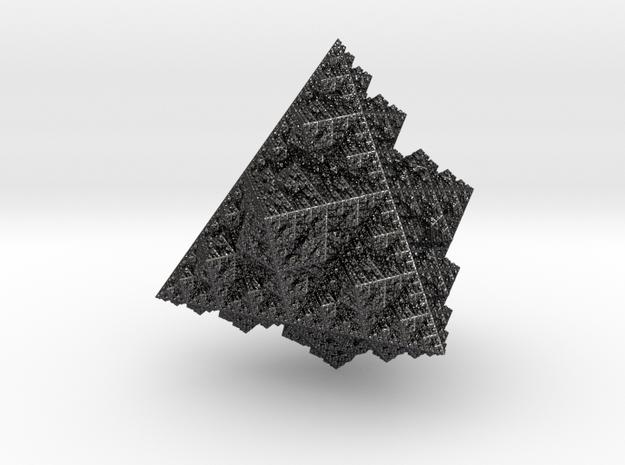 Sierpinski tetrahedron in Polished and Bronzed Black Steel