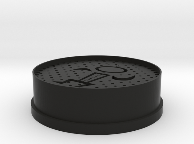 Oreo cookie cutter/press (Nabisco Thing print 3) in Black Natural Versatile Plastic