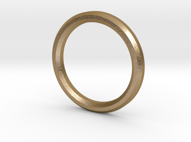 Circle Pendant in Polished Gold Steel