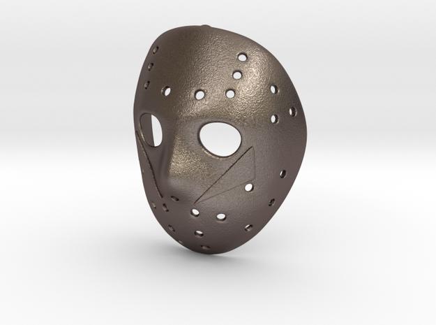PART 5 Pendant ⛧ VIL ⛧ in Polished Bronzed-Silver Steel