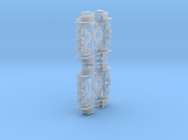 Set of 4 - RWB Rear Diffusor in Smooth Fine Detail Plastic