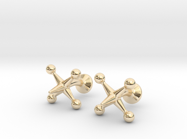 Jacks Cufflinks 3d printed