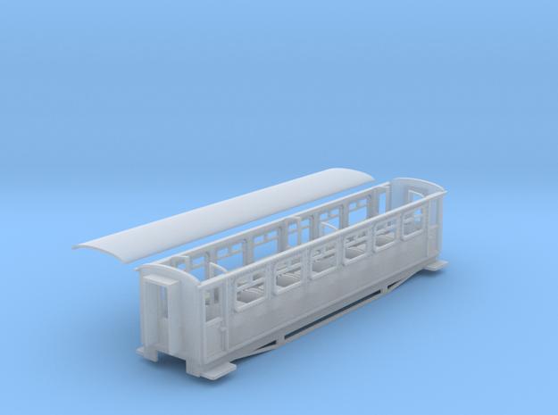 Ffestiniog Rly aluminium 3rd coach NO.116 in Smooth Fine Detail Plastic