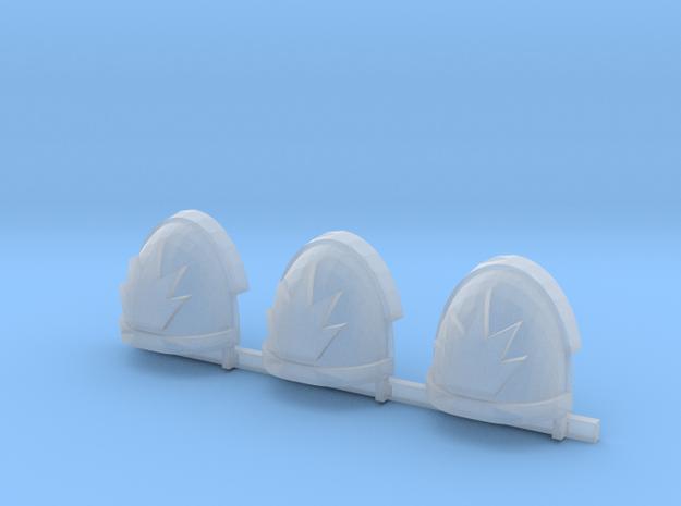Devastators Gravus shoulder pads x3 R #A2 in Smooth Fine Detail Plastic