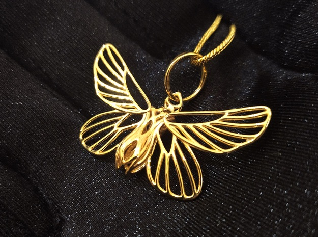 Papillon Butterfly pendant in Rhodium Plated Brass