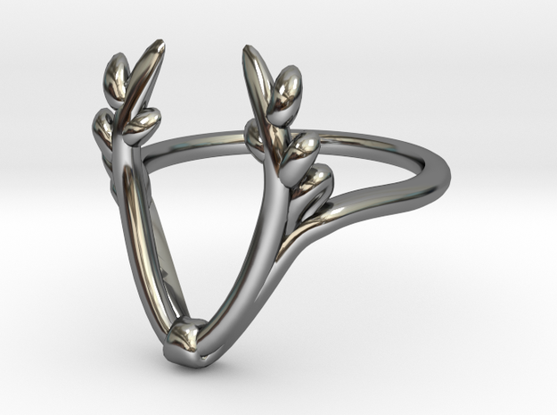 antler ring in Fine Detail Polished Silver: 5 / 49