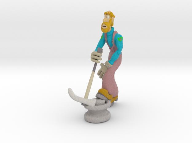 Repair Man in Full Color Sandstone