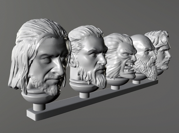 Viking heads A in Smoothest Fine Detail Plastic