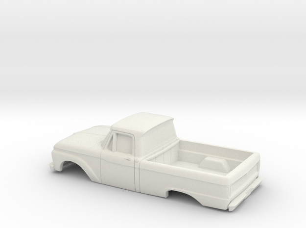 1/32 1966 Ford F - Series Reg Cab Reg Bed Shell in White Natural Versatile Plastic