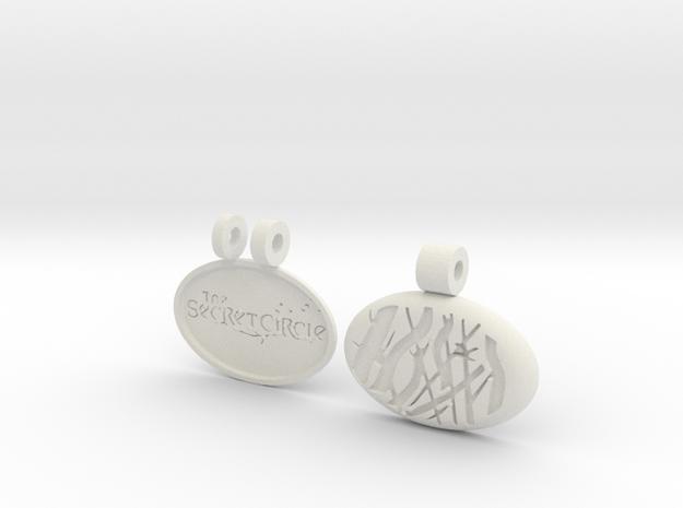 Secret Circle Locket in White Natural Versatile Plastic