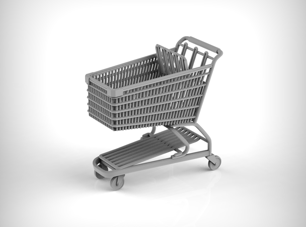 Shopping cart in 1:35 scale. in Smooth Fine Detail Plastic