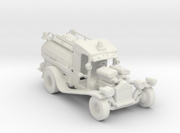 1920s Hot Rod Fire Tanker 1:160 Scale in White Natural Versatile Plastic
