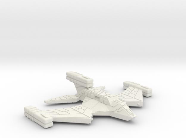 3788 Scale Paravian War Destroyer (DW) SRZ in White Natural Versatile Plastic