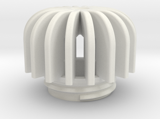 TeaC | Fins (18) *Sm in White Natural Versatile Plastic
