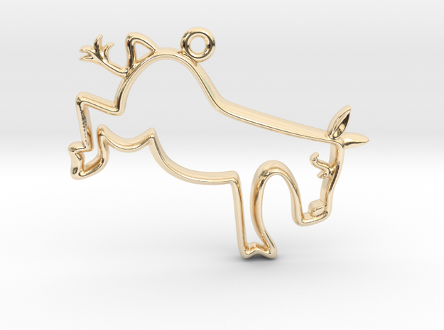Tiny Donkey Charm in 14k Gold Plated Brass