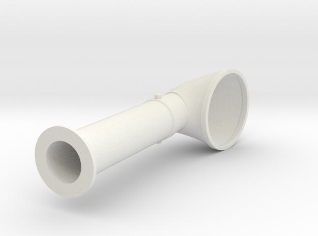Elco Cowl in White Natural Versatile Plastic