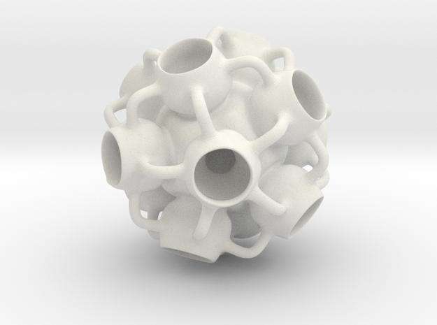 Bulbular in White Natural Versatile Plastic