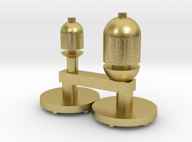 Gauge 1 26 class whistles and sandbox covers in Natural Brass