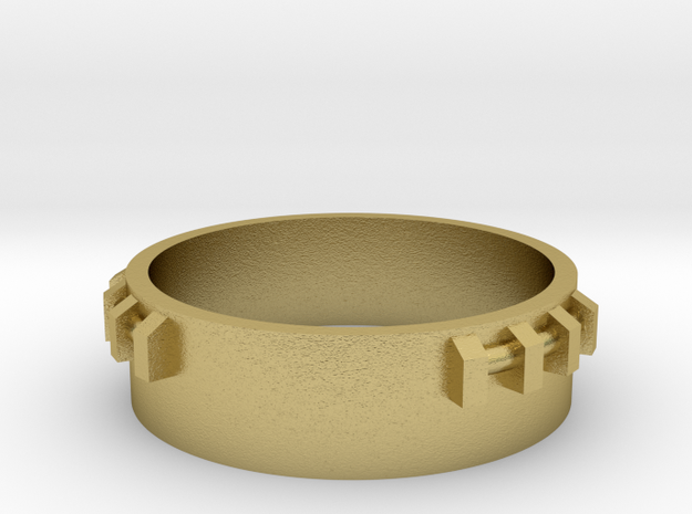 Part 01 SPG ring in Natural Brass