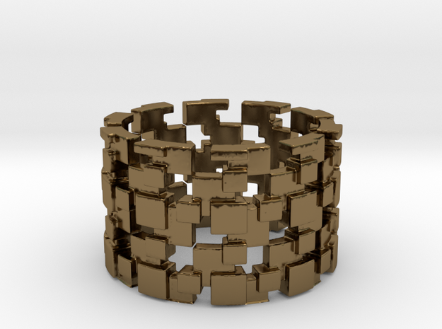 Borg Cube Ring Size 9 3d printed