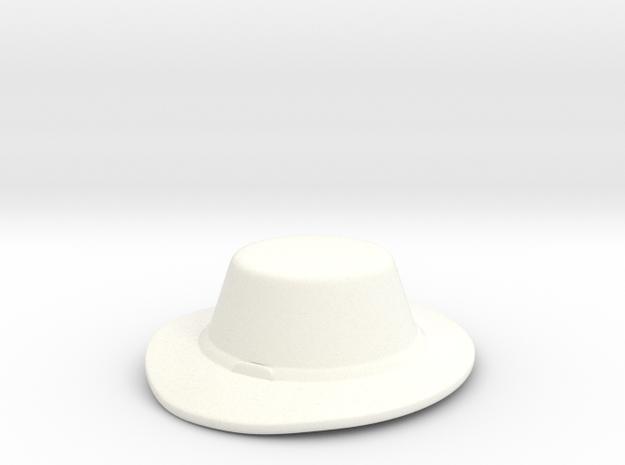 Landsknecht Hat in White Processed Versatile Plastic