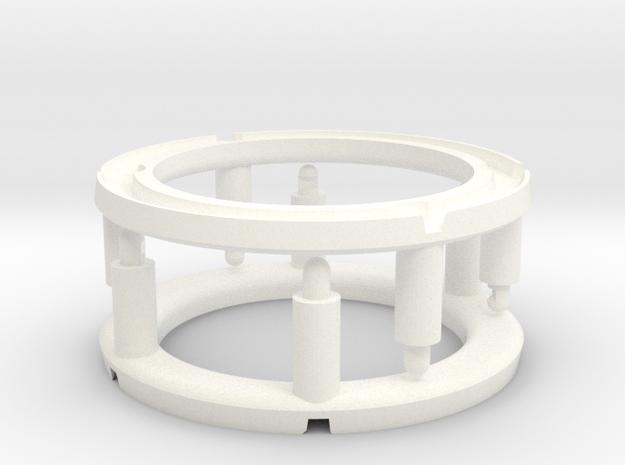 Desoto Firedome 1956 dome lens repair set of 2 in White Processed Versatile Plastic