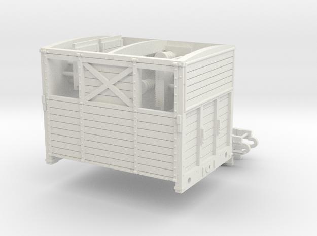 HO SER/LBSCR Horse Box Dia. 19B in White Natural Versatile Plastic